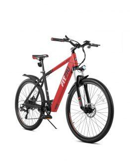 FITFIU TREKKING Bicicleta eléctrica roja 27,5″ 250W bateria Samsung 36V Shimano 6V